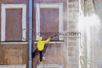 Cleaning service worker