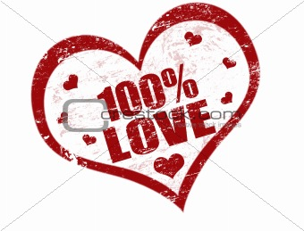 100% love stamp