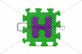 Alphabet puzzle pieces