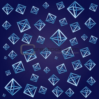 Abstract 3d geometric vector