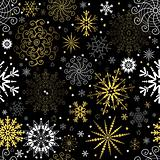 Seamless black christmas wallpaper