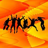 People jumping background
