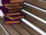 books on bench