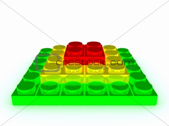 3d building block pyramid