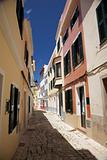 paved street at Ciutadella