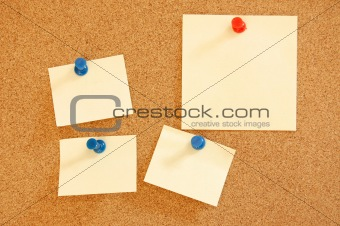 blank sheet of paper on bulletin board