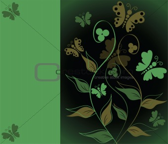 greeting card with floral ornament