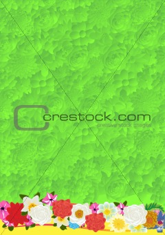 Floral green background