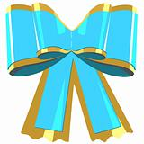 Blue bow gift