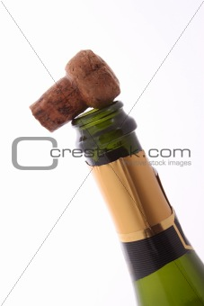 Champagne bottle and cork.