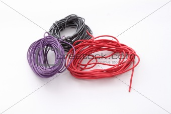 Close up of electric wire