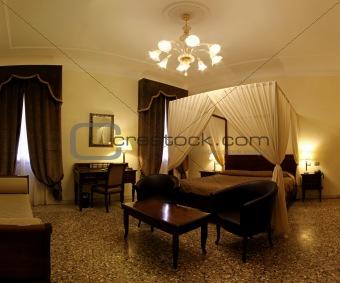 Canopy bedroom sepia