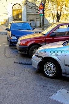 Three car crash