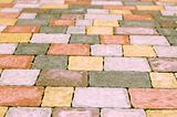 Colorful paving tile