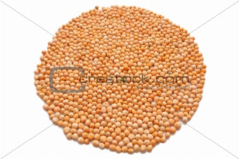 Circle of dry peas