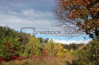 Autumn lanscape - weather changing