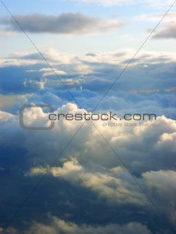 Couds at skies