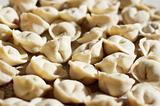 Uncooked meat dumplings
