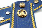 Shoilder strap of Ukrainian senior lieutenant (sky force)