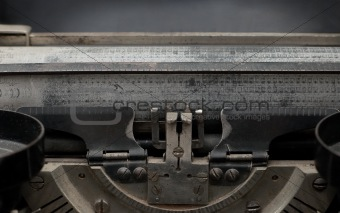 Carriage of vintage printing press