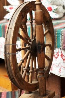 Old wooden distaff