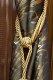 Knot on cutrain tassel