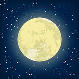 Vector image of moon in the night. EPS 8