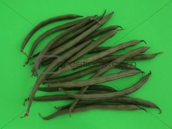 Green runner beans.