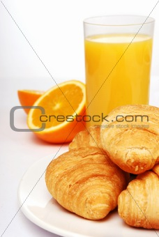 Breakfast with orange juice