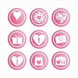 pink st. valentine's day signs