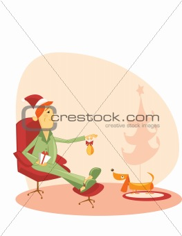 Christmas time vector illustration