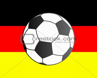 Flag of Germany and soccer ball