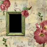 Vintage background with frame for photo.
