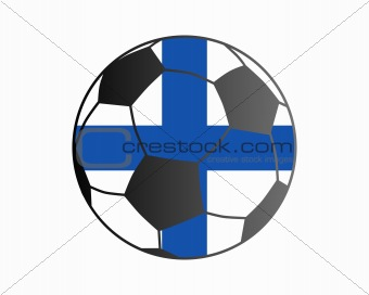 Flag of Finland and soccer ball
