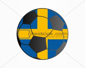 Flag of Sweden and soccer ball