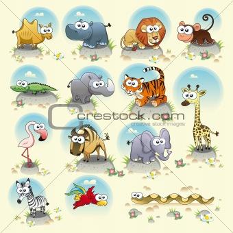 Savannah animals.