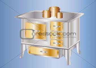 antique cooker