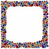 Flower petal frame.