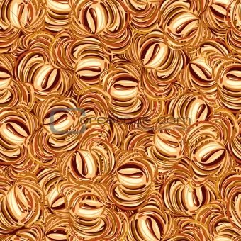 Cappuccino seamless pattern.