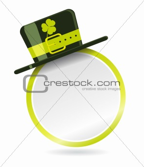 Vector label with hat for St. Patrick Day