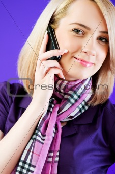 Attractive girl speaking on the mobile phone