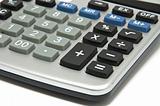 Big plastic calculator
