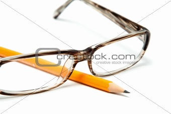 Beautiful Plastic glasses and a pencil