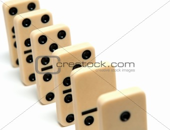Chain of dominoes
