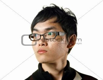asian man looking