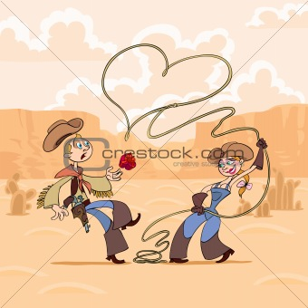 Valentine's Day of cowboy