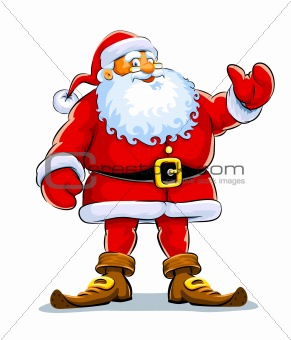 """?""""??˜hristmas santa claus stand with lift hand"""