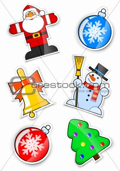 set sticker for christmas