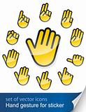 gesture hand for sticker