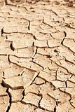 Dry cracked mud in dried up waterhole
